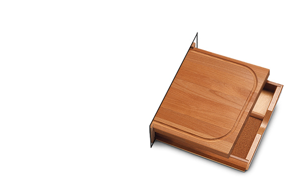 Cabinet Drawer Kit With Cutting Board Serving Tray Extended